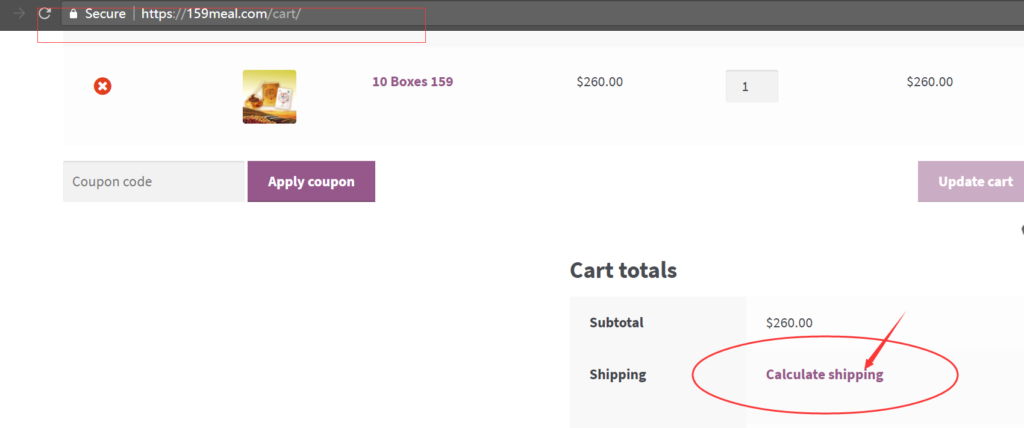 calculate shipping fee